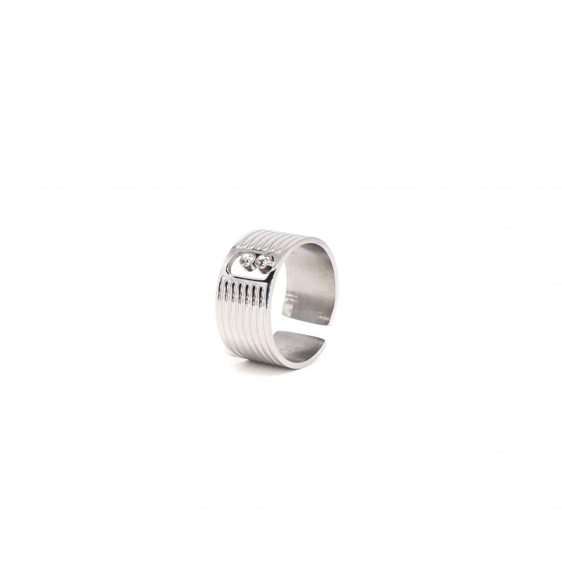Strie silver ring - Zag Bijoux