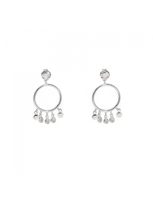 Circles pastilles silver earrings - Pomme Cannelle