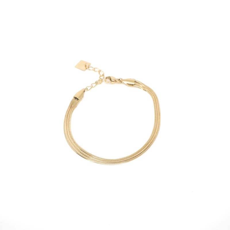 Bracelet trio en acier jaune - Zag Bijoux