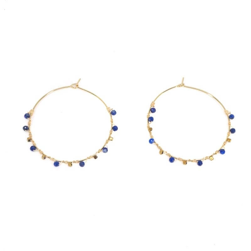 Precious lapis lazuli gold...