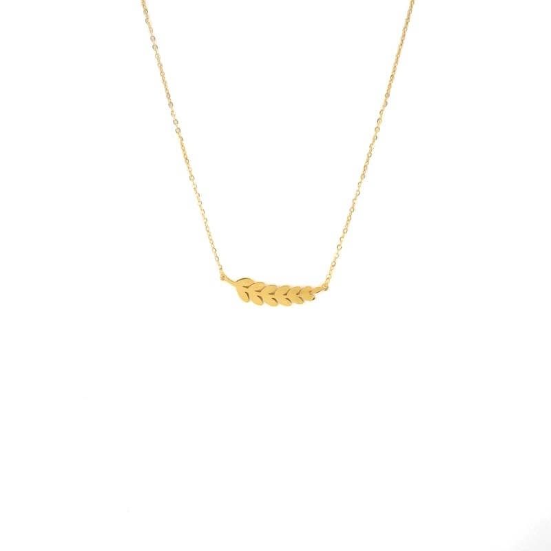 Ears gold necklace - Zag...