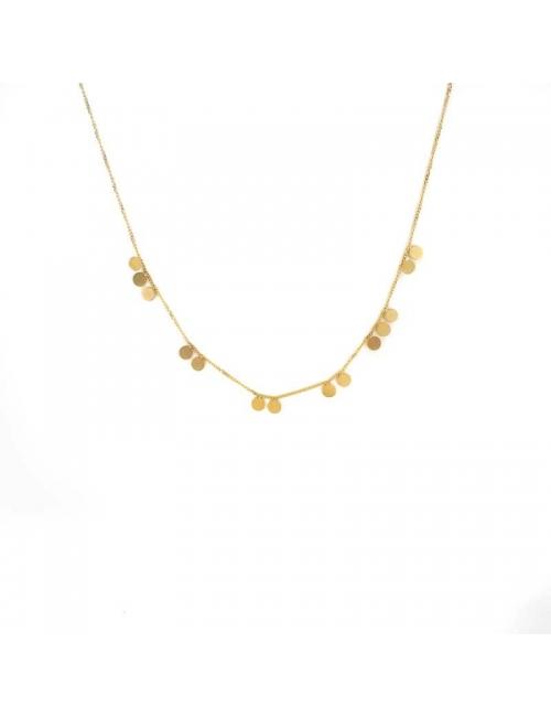Multi pastilles gold necklace - Zag Bijoux