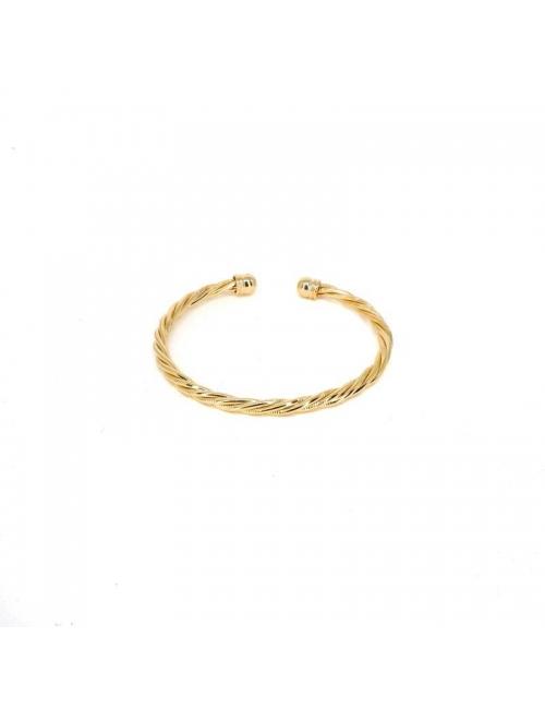 Torsade gold bangle bracelet - Zag Bijoux