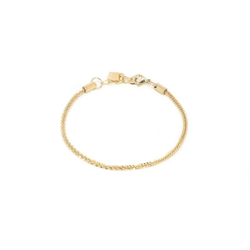 Golden steel twist bracelet...