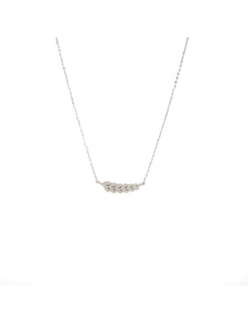Ears of wheat stainless steel necklace - Zag bijoux