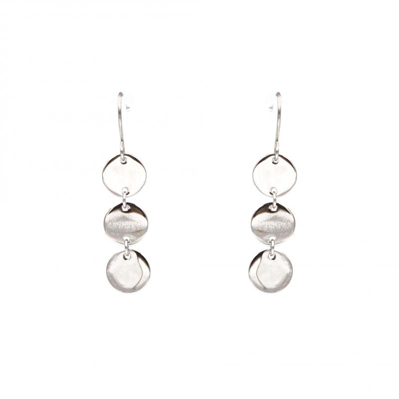 Earrings 3 steel pellets -...