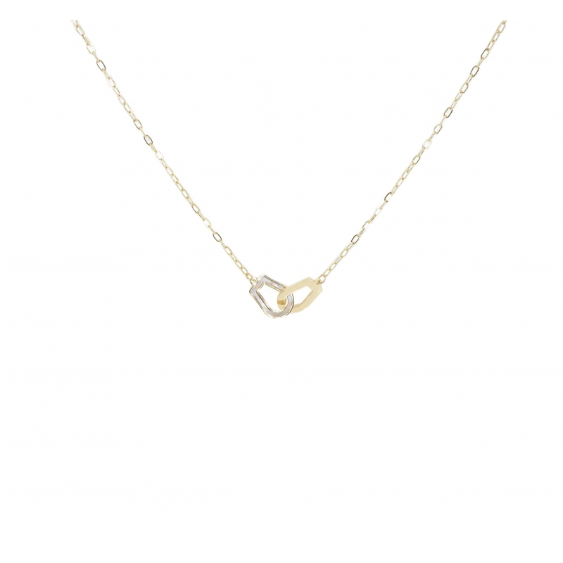 Pearly handcuffs gold necklace - Zag Bijoux