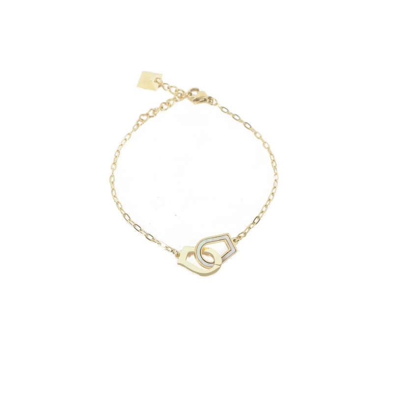 Pearly handcuffs gold...