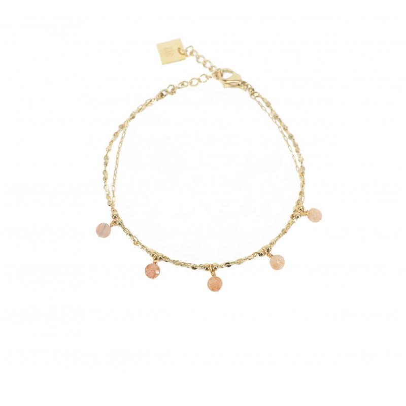 Bracelet perle héliolite en...