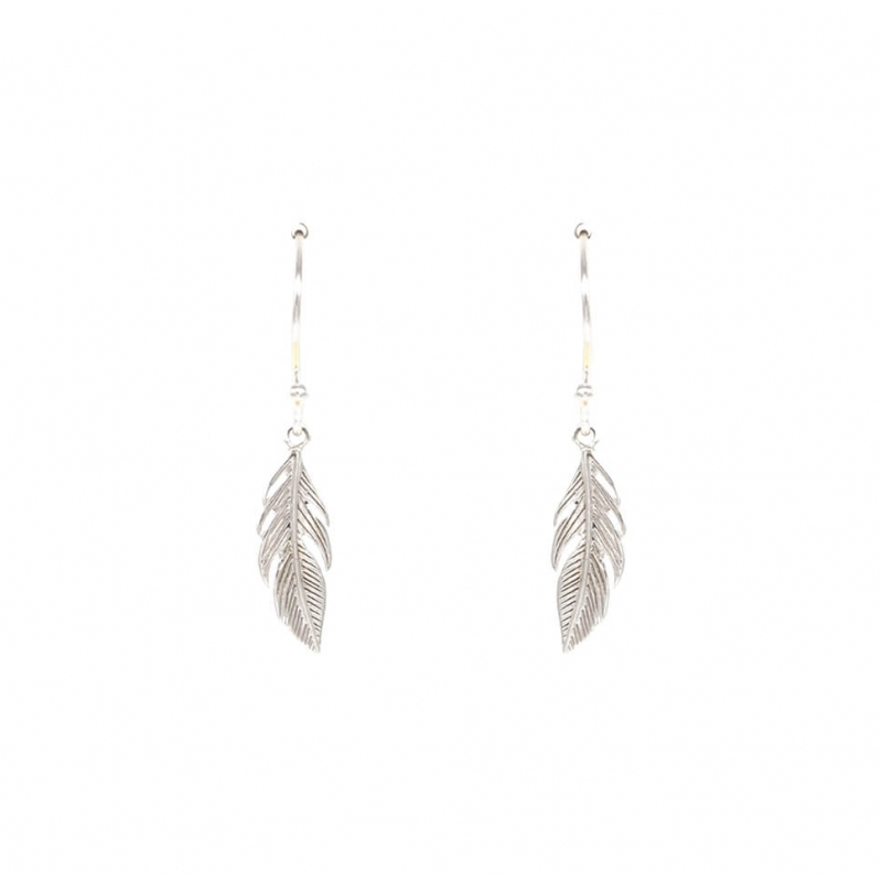 Long feather silver...