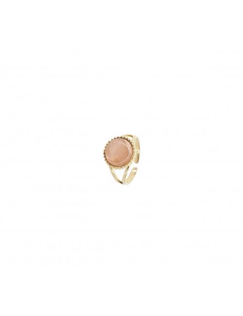 Heliolite pastille gold ring - Zag Bijoux