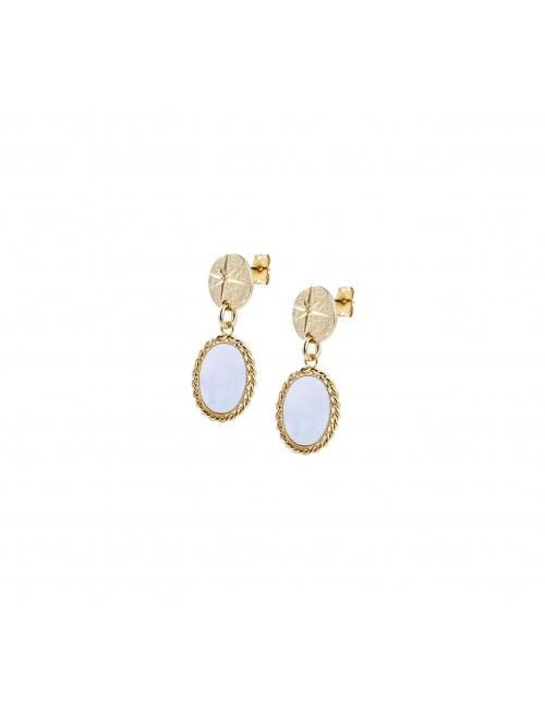Pearl shine gold earrings - Lovely Day