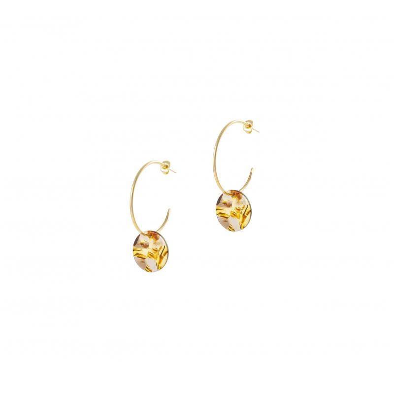 Acetate gold hoop earrings...