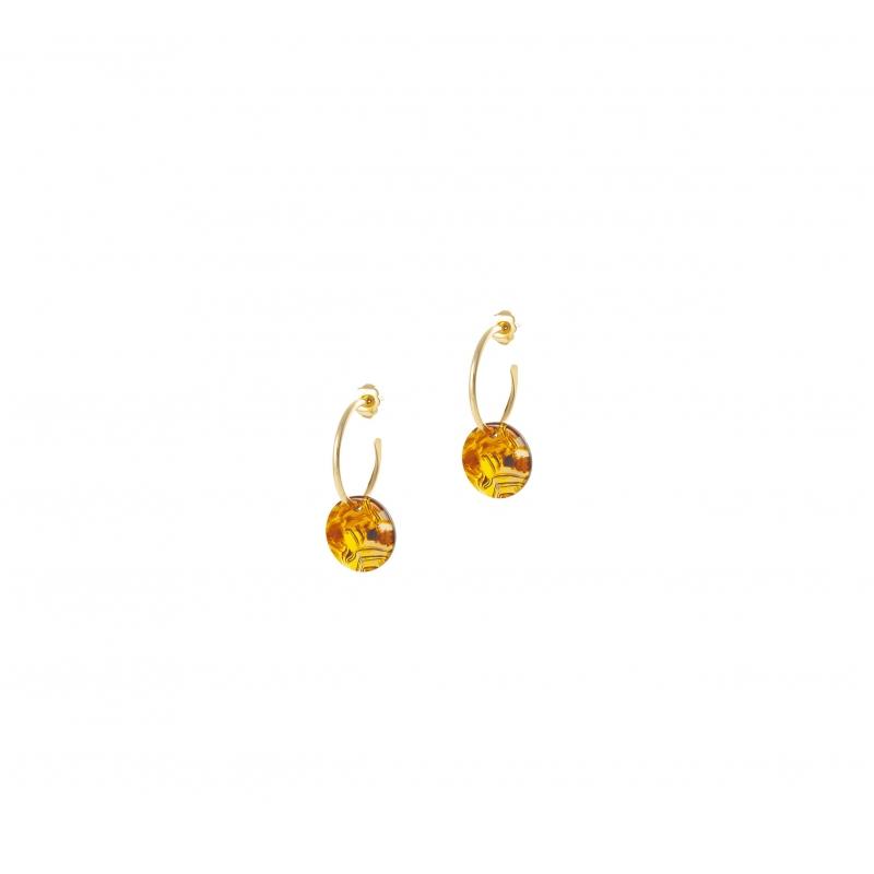 Mini acetate gold hoop earrings - Lovely Day