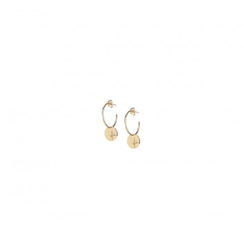 Mini star gold hoop earrings - Lovely Day