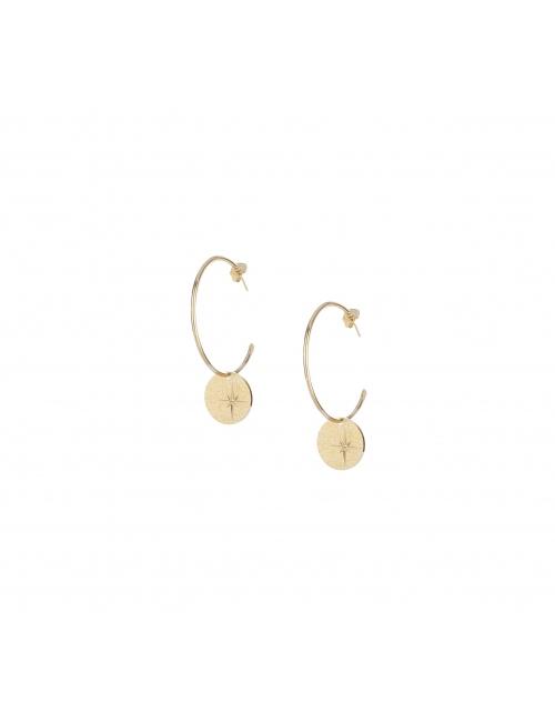 Star gold hoop earrings - Lovely Day