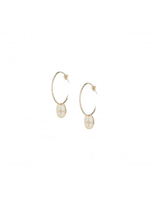 Spark gold hoop earrings - Lovely Day