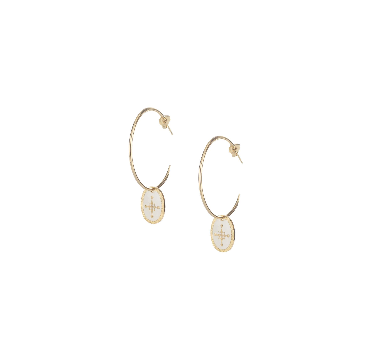 Boucles d'oreilles créoles étincelle en plaqué or - Lovely Day