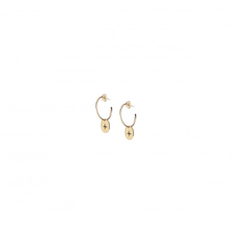 Mini shine gold hoop earrings - Lovely Day