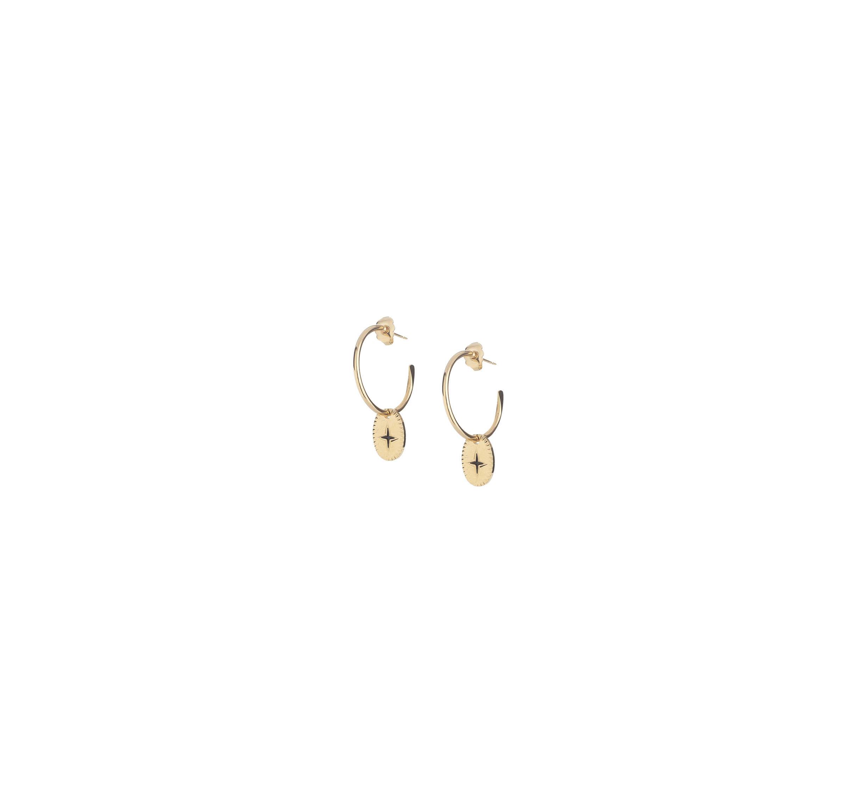 Boucles d'oreilles créoles éclat mini en plaqué or - Lovely Day