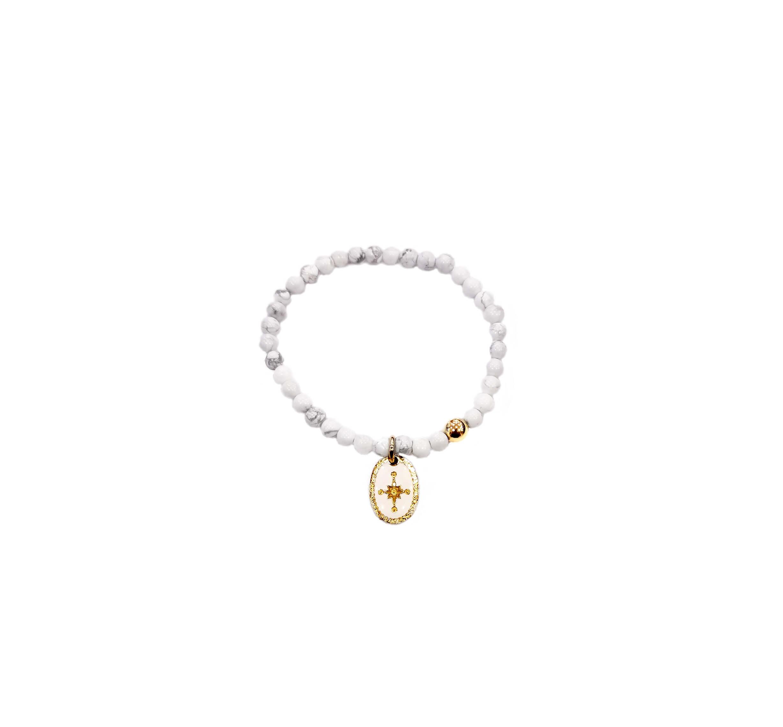 Bracelet perle étincelle en plaqué or - Lovely Day