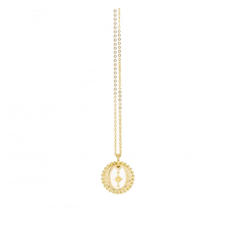 Spark gold necklace -...