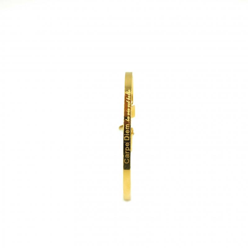 Carpe Diem gold bangle - Zag bijoux