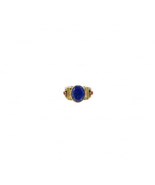 Bague ethnique chic lapis lazuli MM en argent - Canyon - Canyon Bijoux