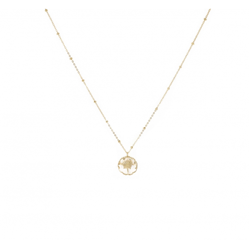 Chrystal gold necklace -...