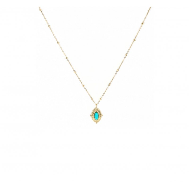 Collier astrid turquoise en...