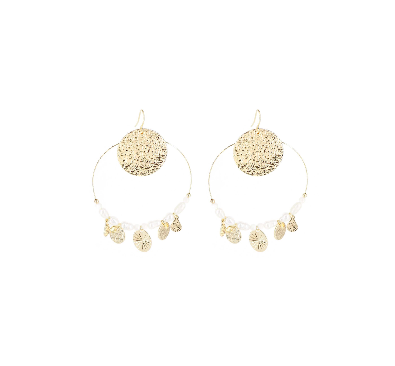 Boucles d'oreilles perla en acier jaune - Shyloh Paris