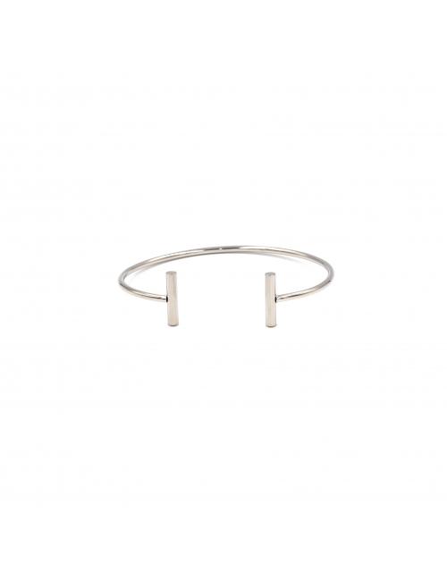 """T"" silver bangle - Zag Bijoux"