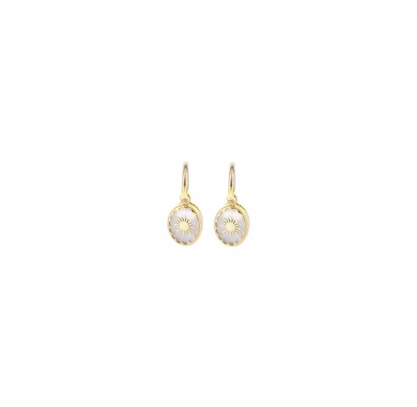 Boucles d'oreilles créoles gloria en acier jaune - Shyloh Paris - Shyloh Paris