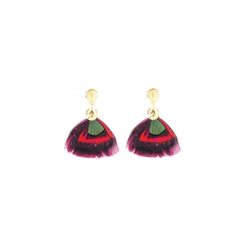 Boucles d'oreilles Bermudes bis or - Gas Bijoux