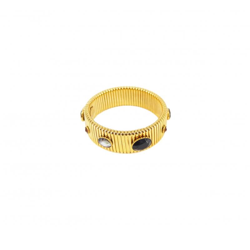 Bracelet strada MM noir or...