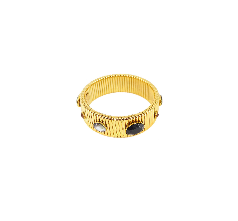 Bracelet strada mm noir or - Gas Bijoux