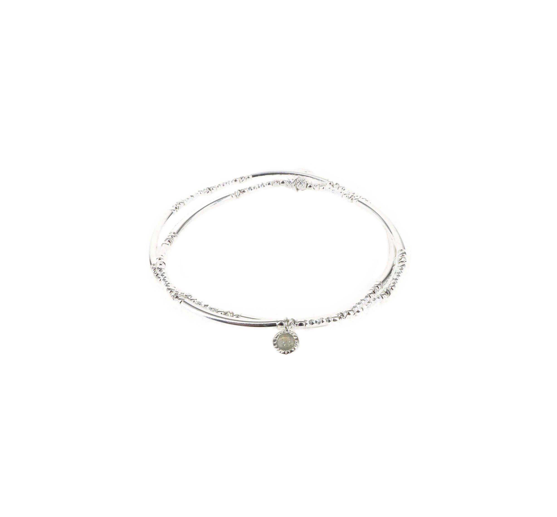 Bracelet double élastiques labradorite - Doriane bijoux
