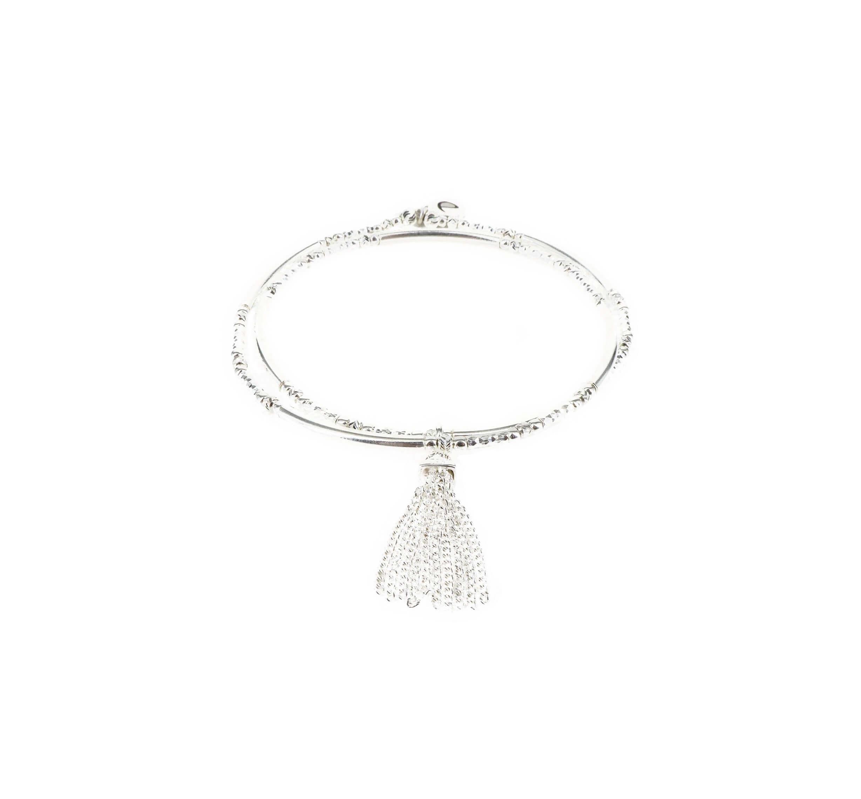 Bracelet double élastiques pompon - Doriane bijoux