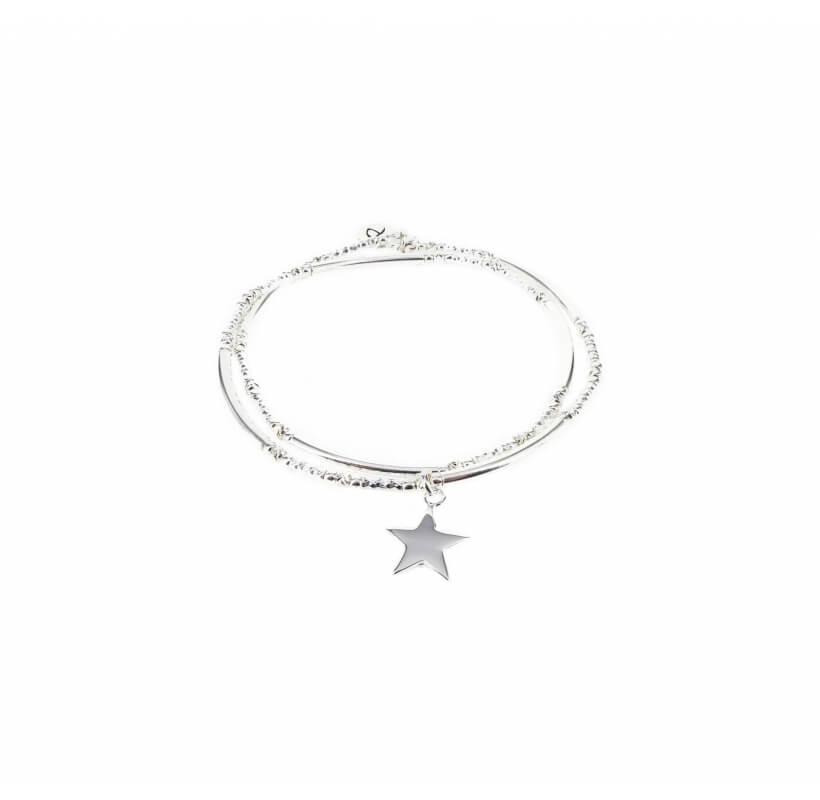Bracelet double élastiques étoile - Doriane bijoux