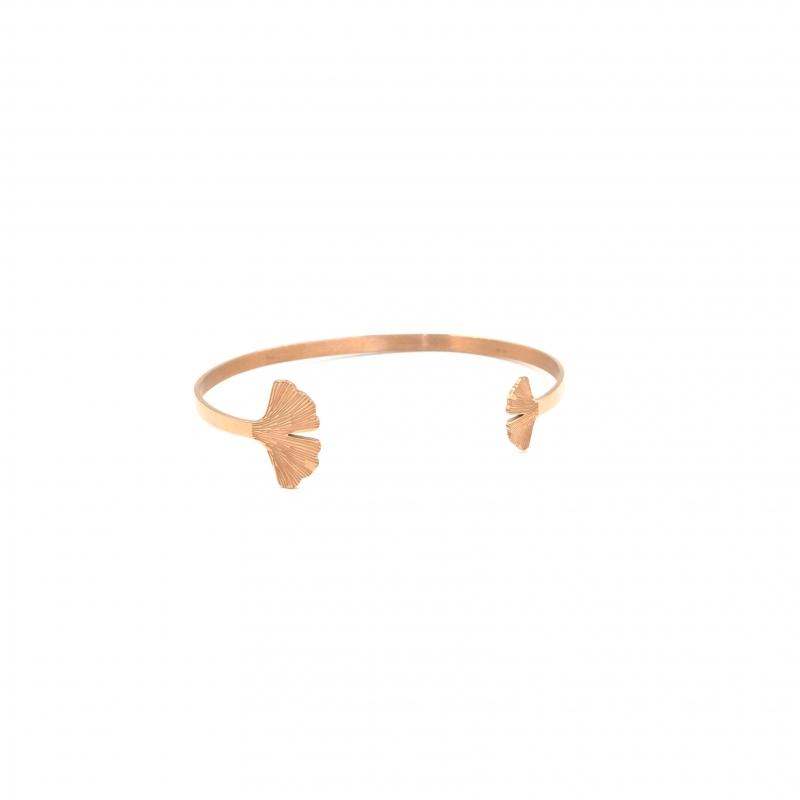 Ginkgo rose gold bangle -...