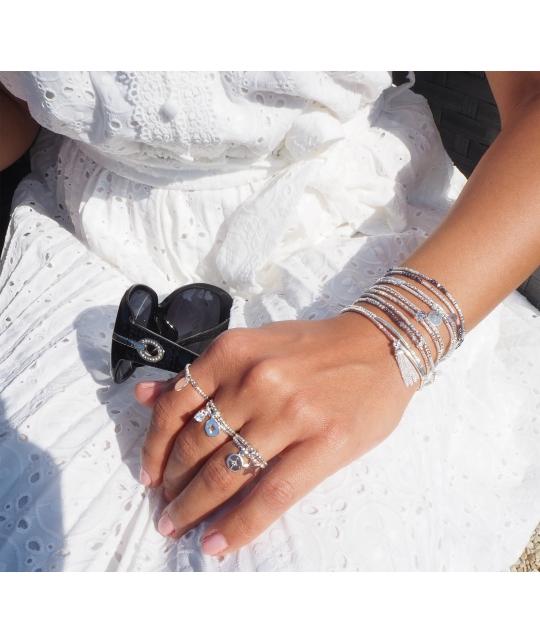 Bracelet double élastiques gris - Doriane bijoux - Doriane Bijoux