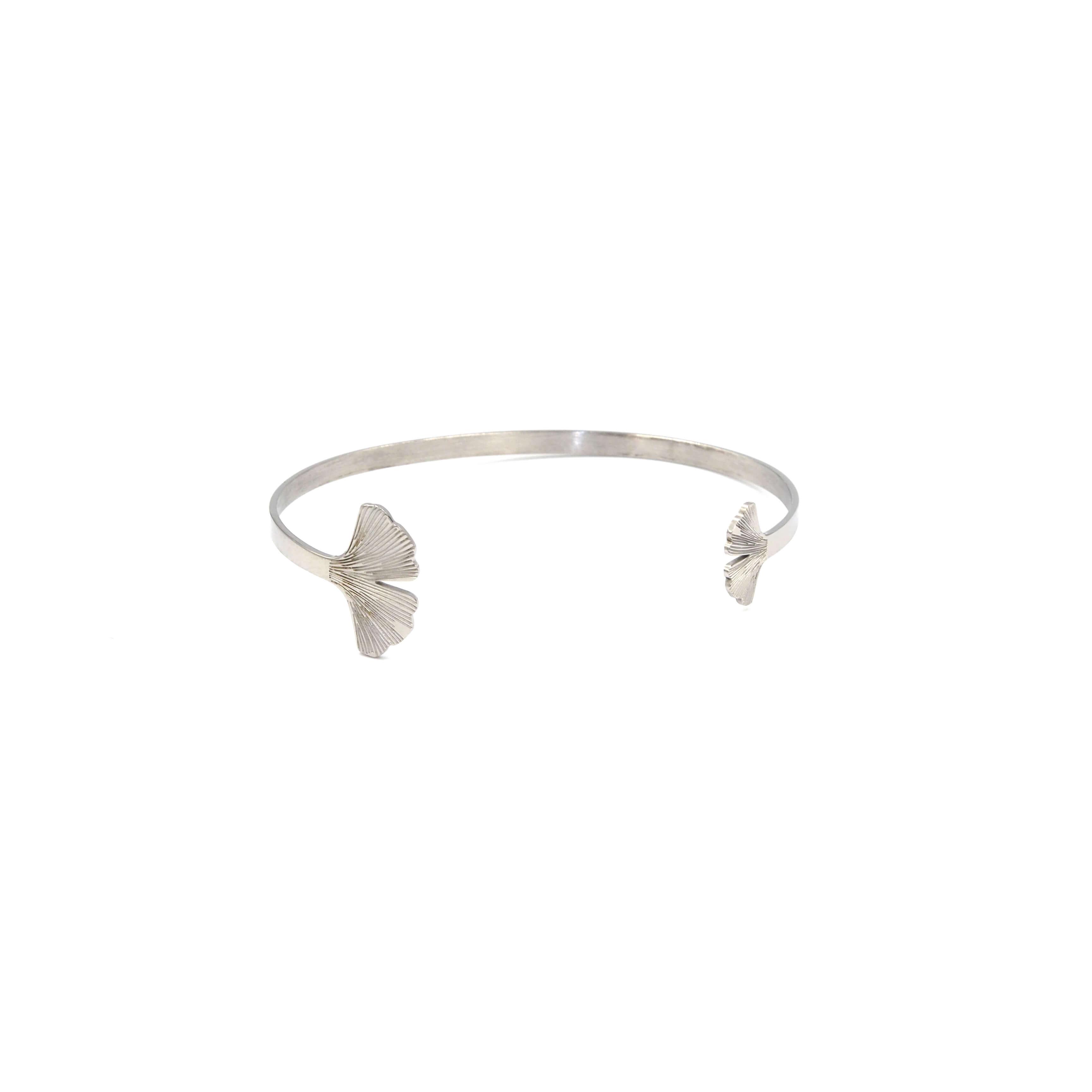 Bracelet jonc Ginkgo acier - Zag Bijoux