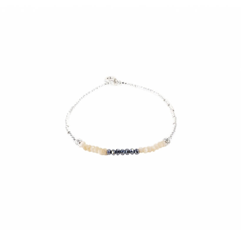 Bracelet élastique ever crème - Doriane bijoux