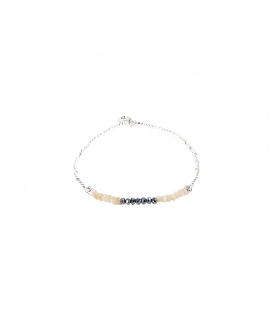 Bracelet élastique ever crème - Doriane bijoux - Doriane Bijoux