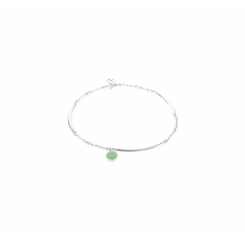 Bracelet élastique tubes aventurine - Doriane bijoux - Doriane Bijoux
