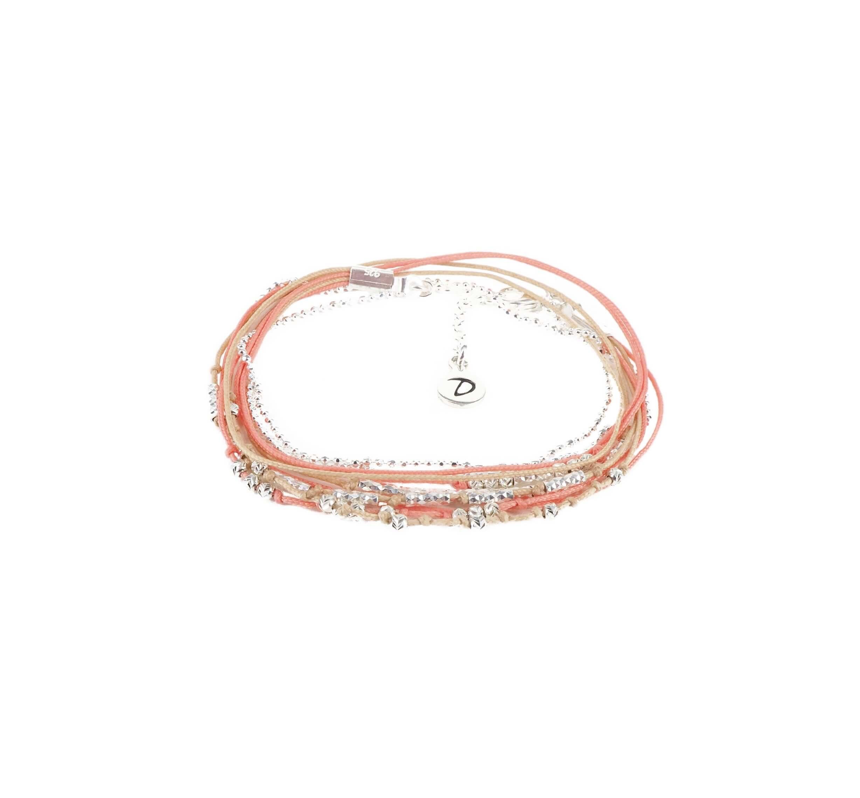 Bracelet multi-tours iconique corail beige - Doriane bijoux
