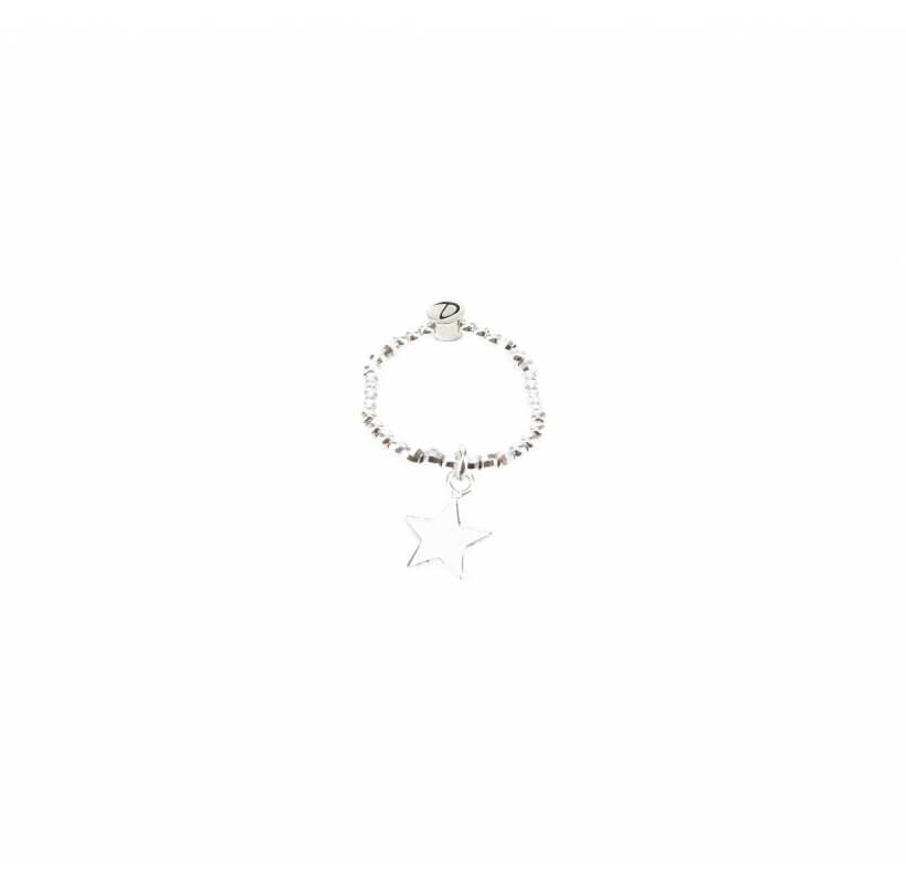 Bague élastique étoile argent - Doriane bijoux - Doriane Bijoux