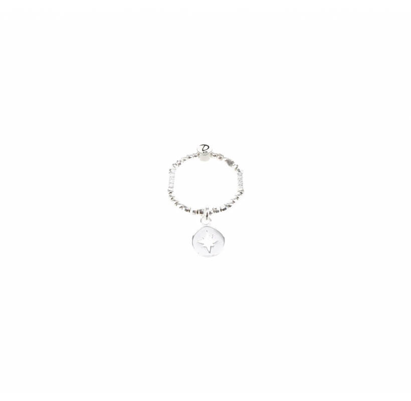 Bague élastique boussole argent - Doriane bijoux - Doriane Bijoux