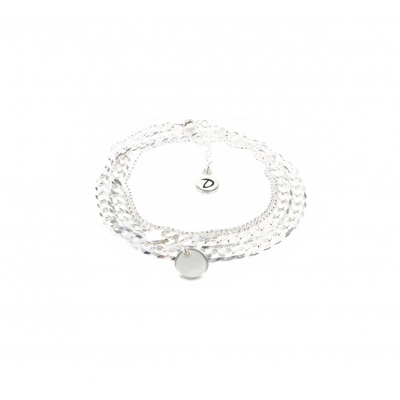 Curb bracelet with double...
