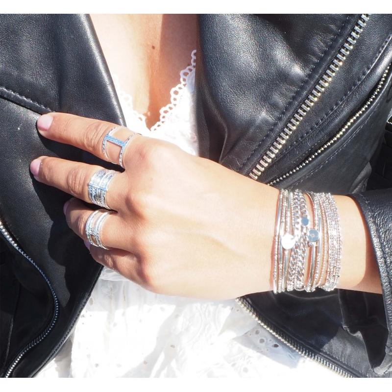 Bracelet chaîne double...